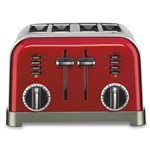 4-Slice Toaster Metallic Red Metal Classic