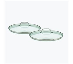 Cooking Sets cuisinart chefs classic stainless 2 piece glass lid set